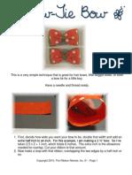 PDF Bow Tie Bow