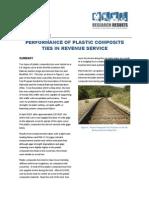 Performance of plastic composite ties in revenue service