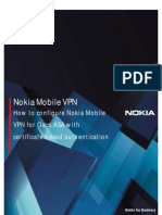 How to Configure Nokia Mobile VPN for Cisco ASA Gateway Certificates