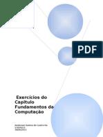 Exercícios Capítulo Fundamentos da Computação1