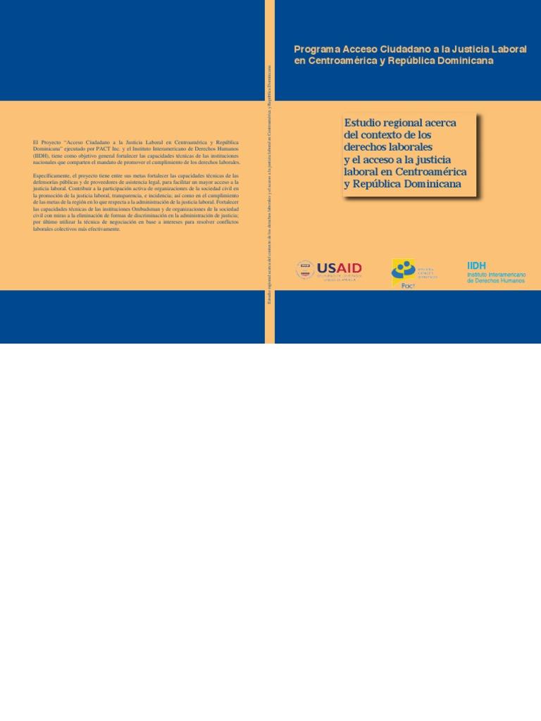 Estudio Regional Acerca Del Contexto de Los Derechos Laborales y el Acceso  a la Justicia Laboral en CAFTA-DR 4b9e9e1cf4080