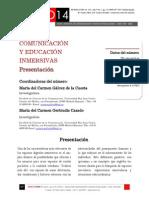 Icono14. A9/V2. Comunicación y educación inmersivas. Presentación