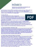 EL FUNCIONAMIENTO O MARCHA DE LA ECONOMÍA SE PRESENTA EN ETAPAS DESIGUALES O DISÍMILES DENOMINADAS CICLOS
