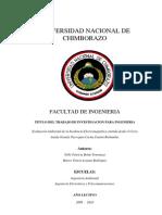 Evaluación Ambiental de la Incidencia Electromagnética emitida desde el Cerro Amula Grande Parroquia Cacha Cantón Riobamba.