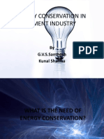 Energy Conservation In