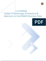 The Business of WiMAX Impact of Technology Architecture and Spectrum Case