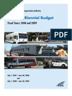 Vta Fy08and09 Budget Book