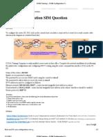 CCNA Training » CCNA Configuration SIM Question