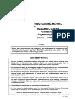Mazak EIA - Programming Manula for Mazatrol Matrix