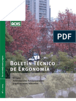 Boletín Técnico de Ergonomía