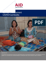 USAID Gender Assessment Cambodia