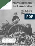 Underdevelopment in Cambodia by Khieu Samphan