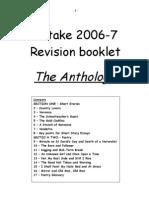 Anthology Revision Booklet