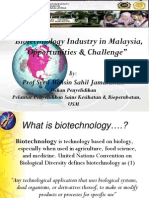 Talk 06 - Biotechnology Industry in Malaysia, Opportunities & Challenge - Prof. Syed Mohsin