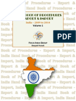 Hand Book Of Procedures Export & Import - Volume 1, India 2009 - 2014