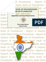 Hand Book Of Procedures Export & Import - Appendices and Aayat Niryat Forms