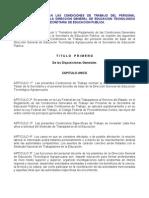 Normas Que Regulan Las Condiciones de Trabajo Del Personal Docente de Base de La Dgeta de La Sep.