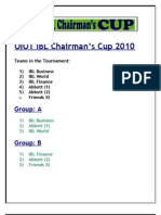 OIOT IBL Chairman Cup Rules & Draws
