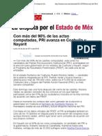 04-07-2011 Con más del 90% de las actas computadas, PRI avanza en Coahuila y Nayarit - Elecciones en el Estado de México - Nacional - CNNMéxico