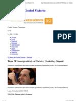 04-07-2011 Tiene PRI Ventaja Oficial en EdoMex, Coahuila y Nayarit | El Diario de Ciudad Victoria