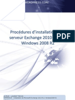 Procedures d Installation d Un Serveur Exchange 2010 en Windows 2008 r2