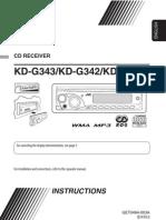 Ohjekirja KD-G341 342 343 Inst