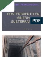 Sostenimiento en Mineria Subterranea