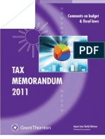 Tax Memorandum 2011