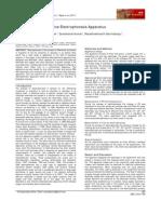 Cost Effective Submarine Electrophoresis Apparatus