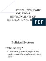 The Political Economic and Legal Environments Of International Trade