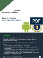 Android Development Employing Widgets