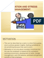 Motivation and Stress Management