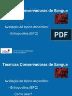 Técnicas Conservadoras de Sangue_Eritropoetina