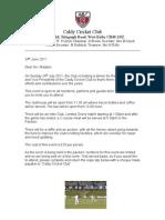 Caldy VP Lunch Member Letter
