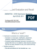 Product Recall FDA Ppt