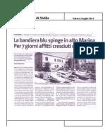 02.07.2011 - La Bandiera Blu Spinge in Alto Marina Per 7giorni Affitti Cresciuti Del 15%