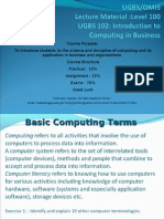 Computing in Business UGBS L100