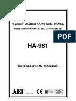 981RA Installation Manual