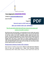 Report on ADF Foods