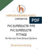 Harrison Superduct Dimensions 2009