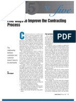 Five Ways to Improve Contracting Process