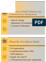 Excellence in Public Relations and Communication Management, James E. Grunig, Sveuciliste Maryland, SAD