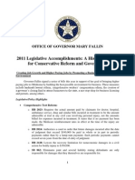 Oklahoma 2011LegislativeAccomplishements