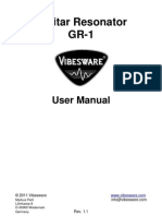 Vibesware Guitar Resonator GR-1 User Manual