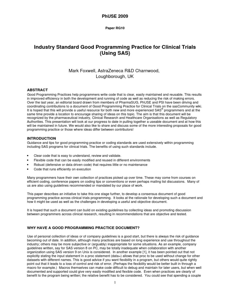 GPP Clinical | Clinical Trial | Programmer