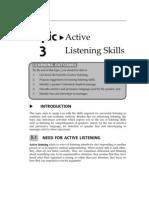 Topic Active Listening Skills
