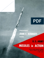 President John F. Kennedy Views U.S. Army Missiles in Action