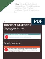 Sample Internet Statistics Compendium
