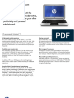 HP 3105m Notebook PC Datasheet