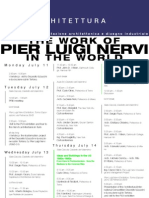 """Updated Programme for """"The work of Pier Luigi Nervi in the world"""""""